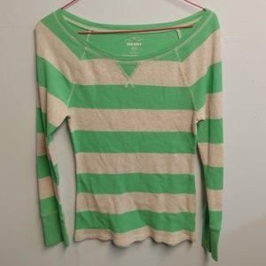 Old Navy Striped Scope Neck Long Sleeve Shirt